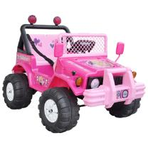 Visit 2 Seat 12V Hot Pink Electric Ride on Jeep