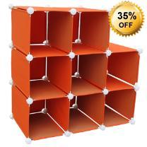 Visit 8 Section Folding Storage Shelves