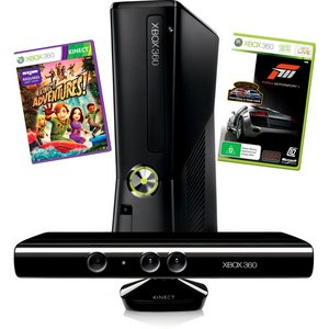 Visit Xbox360 4GB Console with Kinect Adventures + Forza 3