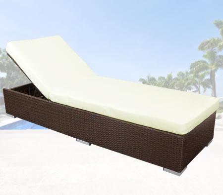 Visit Rattan Adjustable Lounge Bed