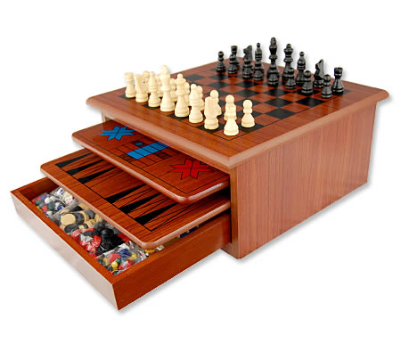 Visit 10 in 1 Wooden Board Games House