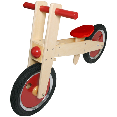 Visit Childrens Wooden Balance Bike - Red