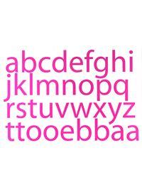 Visit alphabet decals