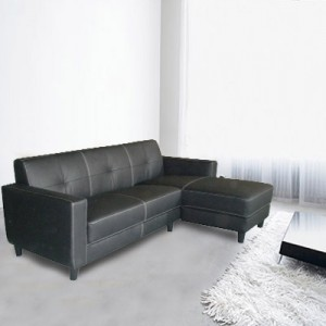Visit Genuine Leather Sofa L-Shape Lounge w Chaise