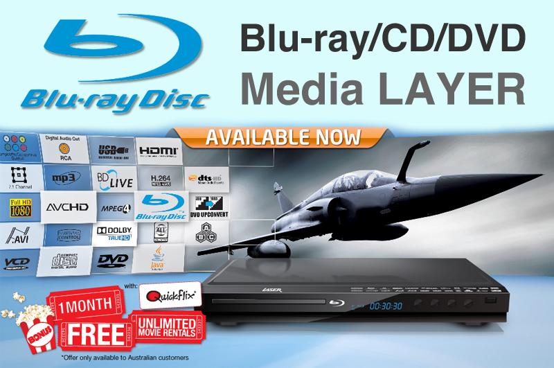 Visit LASER Blu-Ray DVD CD Media Player