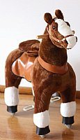 Visit Brown Ride On Walking Toy Horse Pony