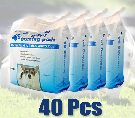 Visit Pack of 40 60 cm x 60 cm Puppy Training Pads for Puppies & Indoor Dogs