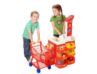 Visit Halsall - Supermarket with Trolley and Working Calculator
