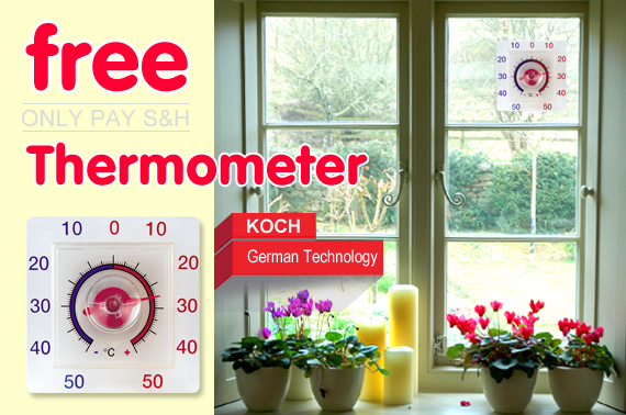 Visit KOCH Outdoor Thermometer with Suction Cup