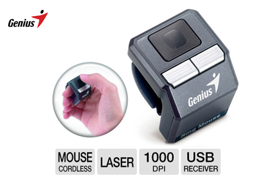 Visit Genius Wireless Thumb Cursor Controller - Ring Mouse