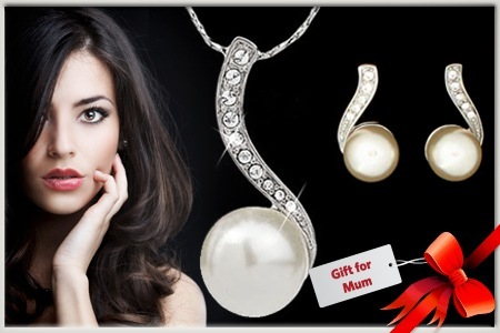 Groupon coupons: Pearl Jewellery Pieces with Swarovski® ELEMENTS, Delivered