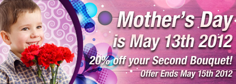 Ready Flowers coupons: 20% off your second bouquet when you buy flowers
