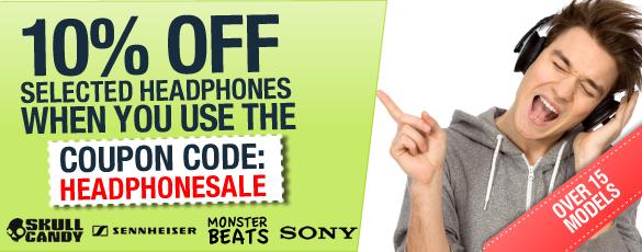 eStore coupons: 10% off HEADPHONE