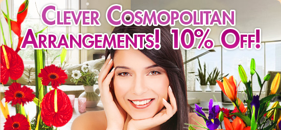Ready Flowers coupons: 10% off our cosmopolitan arrangements