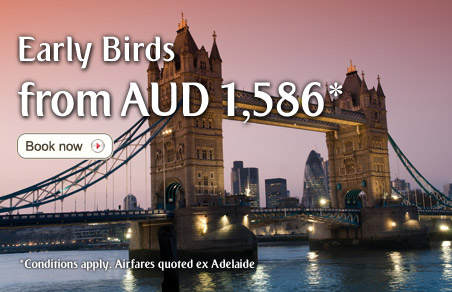 Emirates AU coupons: Emirates Early Bird fares to Europe