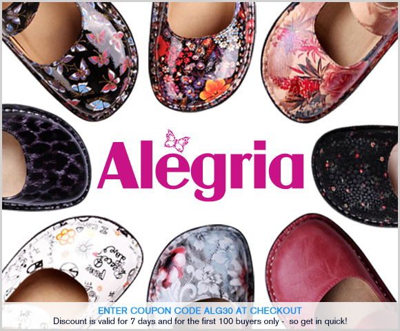 Alegria discount coupons