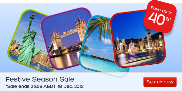 Hotels.com coupons: Save up to 40% with Festive Season Sale