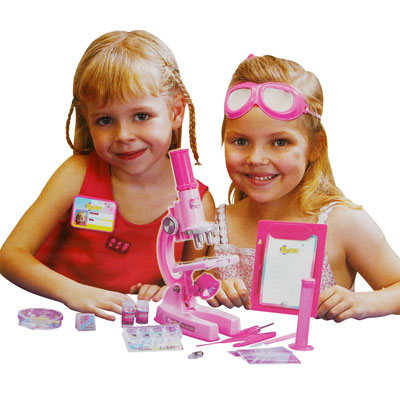 Visit Microscope Set for Girls - 62-Pieces