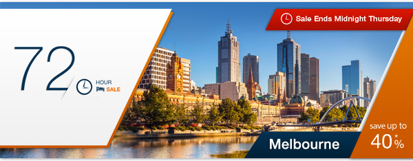 Expedia coupons: Melbourne 72-Hour Hotel Sale