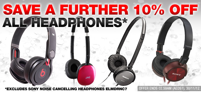OO.com.au coupons: 10% off Headphones & Headsets