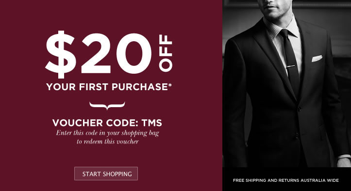 The Mens Shop coupons: $20 off $50