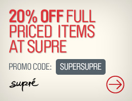 Westfield coupons: 20% off SUPRÉ