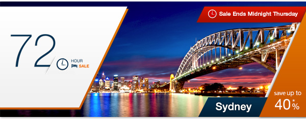 Expedia coupons: Sydney 72 hour sale