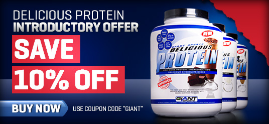 Nutrition Warehouse coupons: 10% off Delicious Protein By Giant Sports