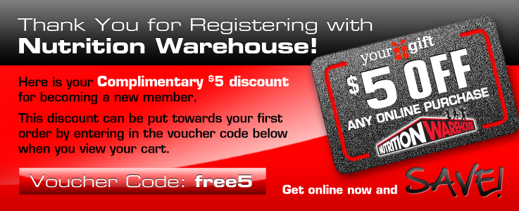 Nutrition Warehouse coupons: $5 discount coupon code