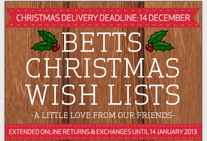 Betts coupons: Free Shipping and Extended Returns