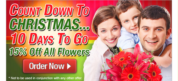 Ready Flowers coupons: 15% off all Christmas flowers