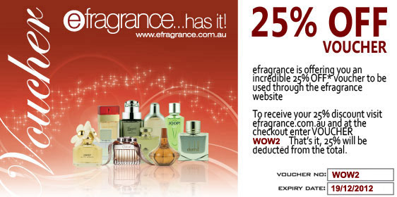 efragrance coupons: 25% off all items