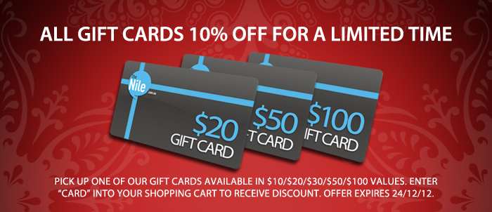 The Nile coupons: 10% off  gift card