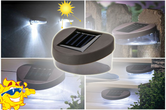 Visit Solar Powered 2-LED Outdoor Fence Light