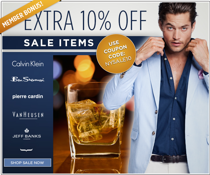 The Mens Shop coupons: 10% off sale