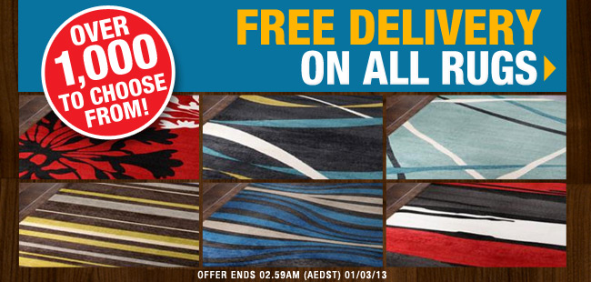 OO.com.au coupons: Free shipping on rugs