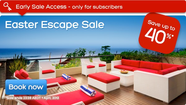 Hotels.com coupons: Easter Escape Sale