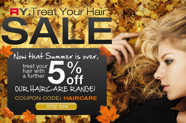 RY coupons: 5% off haircare