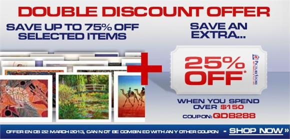 Picture Store coupons: 25% off $150