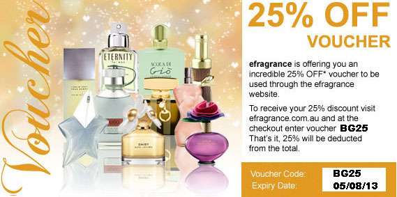 efragrance coupons: 25% off all orders