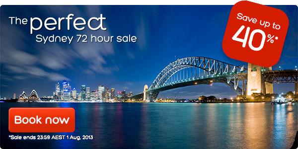 Hotels.com coupons: Sydney 72hr sale
