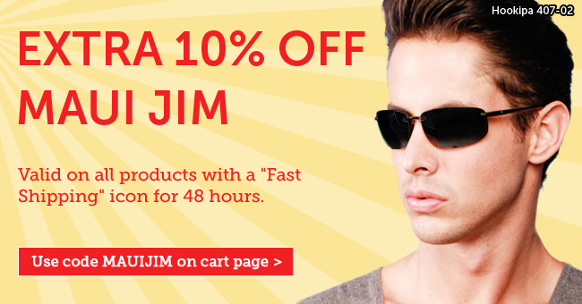Vision Direct coupons: 10% off Maui Jim sunglasses