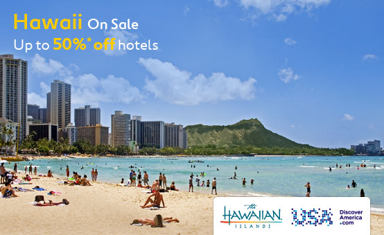 Expedia coupons: 50% savings in Hawaii